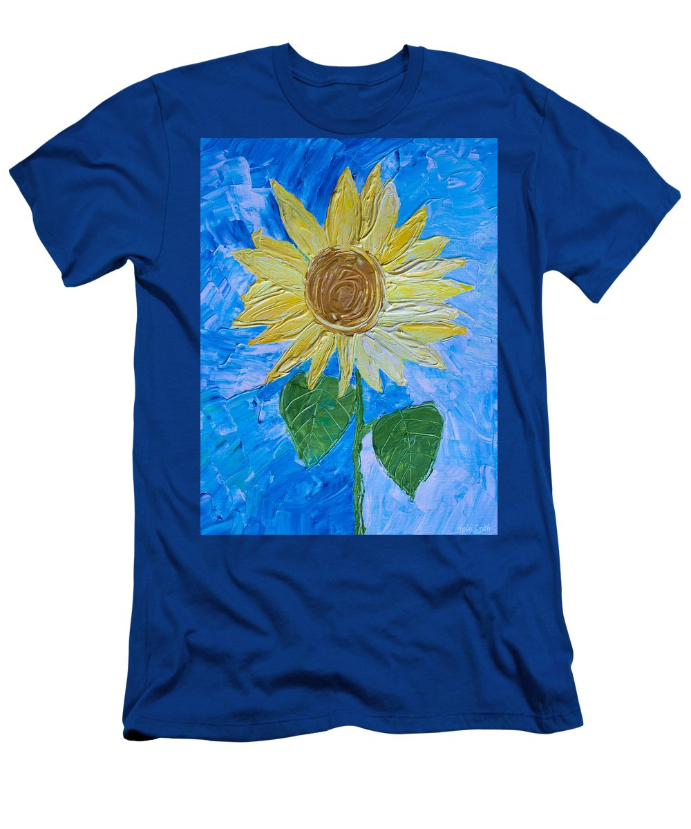 Art Men's T-Shirt (Athletic Fit) featuring the painting Yellow Sunshine by Heidi Smith