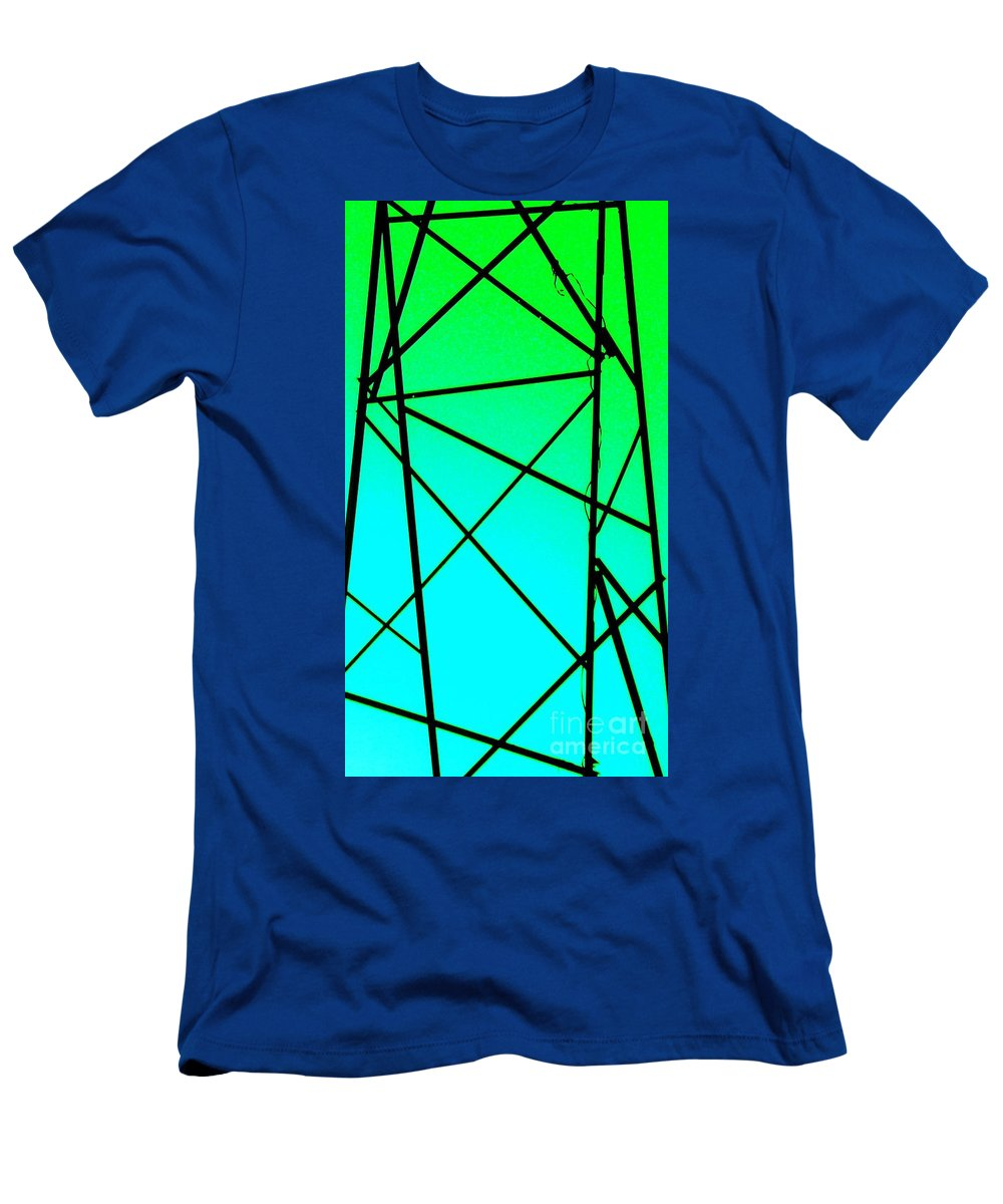 Metal Men's T-Shirt (Athletic Fit) featuring the photograph Metal Frame Abstract by Eric Schiabor