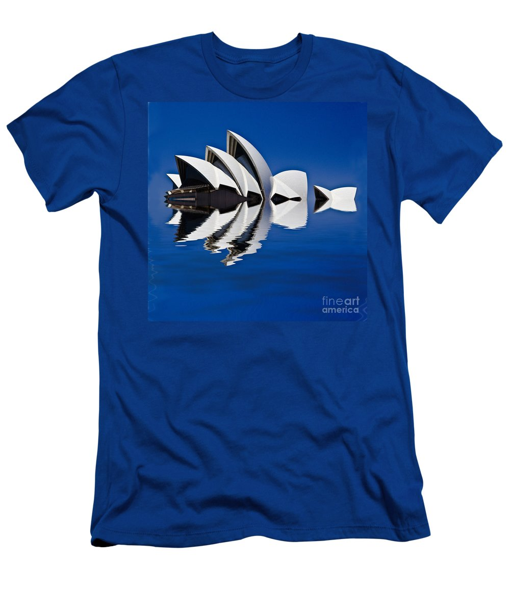 Sydney Opera House T-Shirt featuring the photograph Abstract of Sydney Opera House by Sheila Smart Fine Art Photography