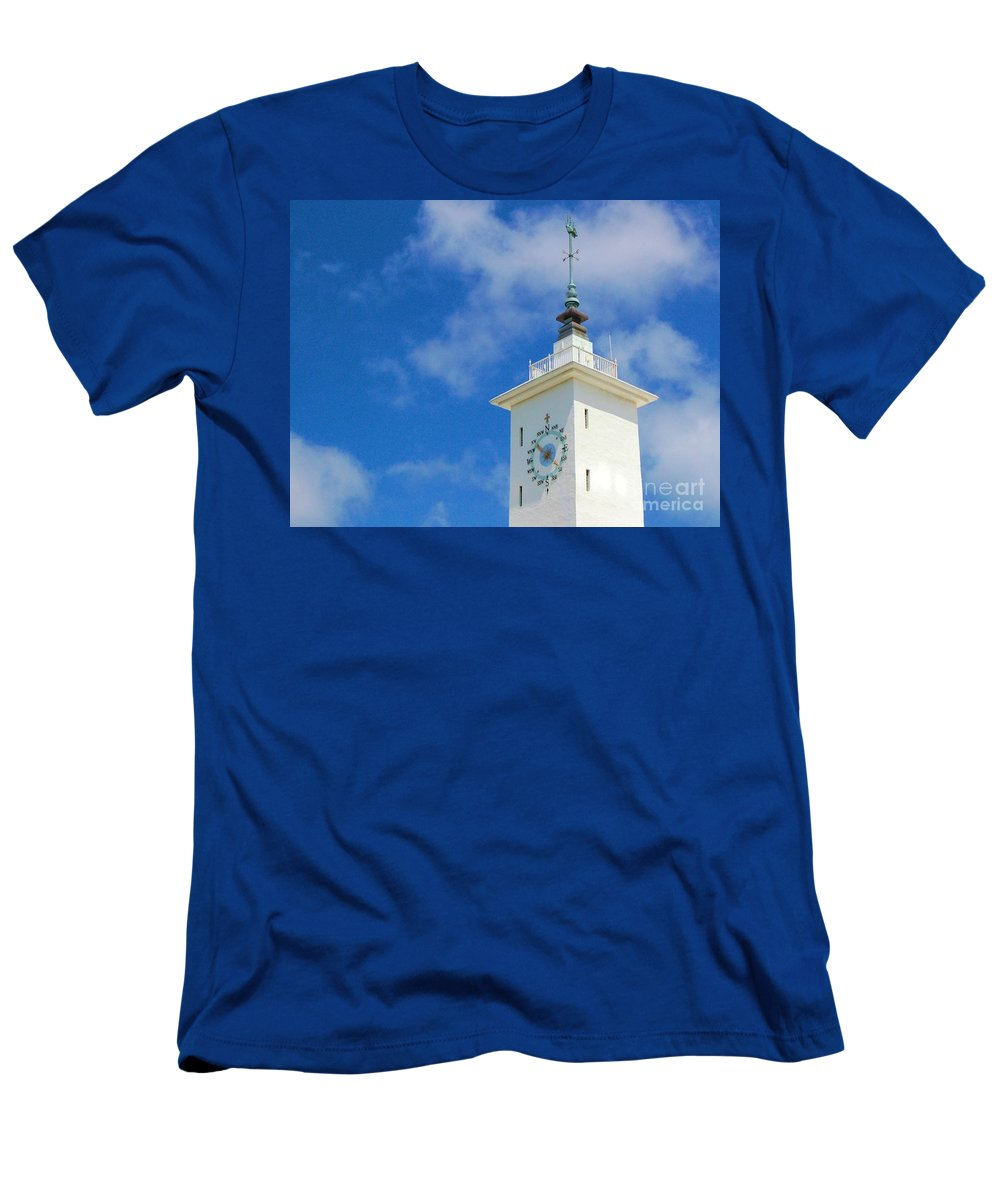 Clock Men's T-Shirt (Athletic Fit) featuring the photograph All Along The Watchtower by Debbi Granruth