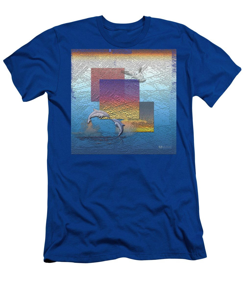 �from Dusk Till Dawn� Collection By Serge Averbukh T-Shirt featuring the photograph Blue Lagoon Sunrise by Serge Averbukh