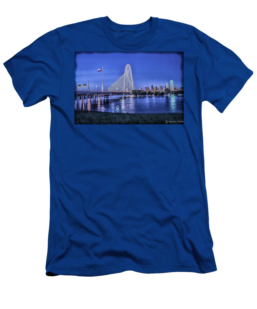 Bridge Men's T-Shirt (Athletic Fit) featuring the photograph Bridge Over Troubled Waters by Saundra Salter