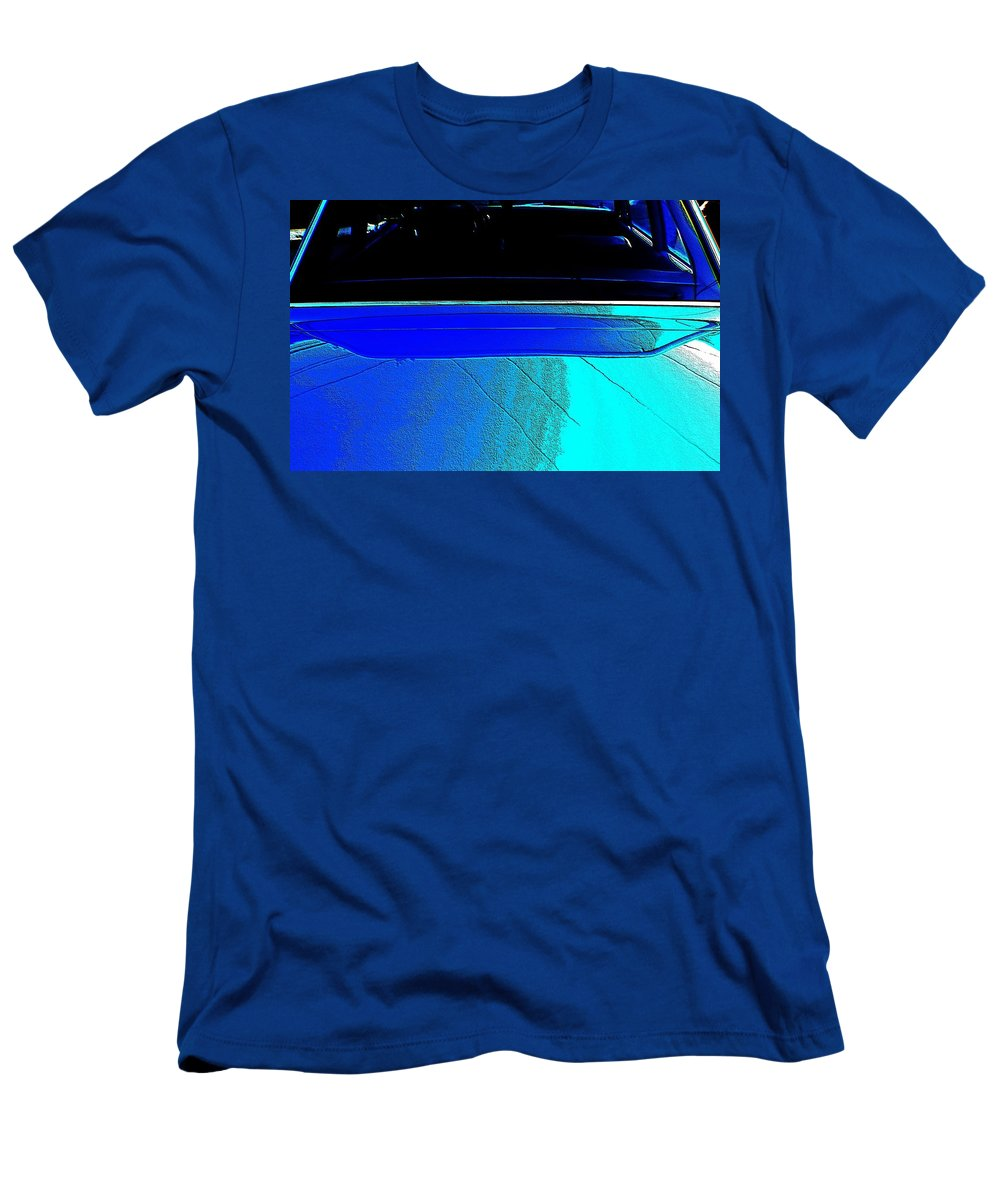 Cars Men's T-Shirt (Athletic Fit) featuring the photograph Car Reflection Bump Map 5 by Karl Rose