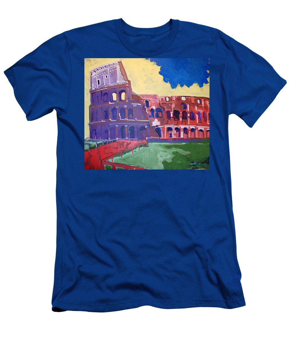 Rome T-Shirt featuring the painting Colosseum by Kurt Hausmann