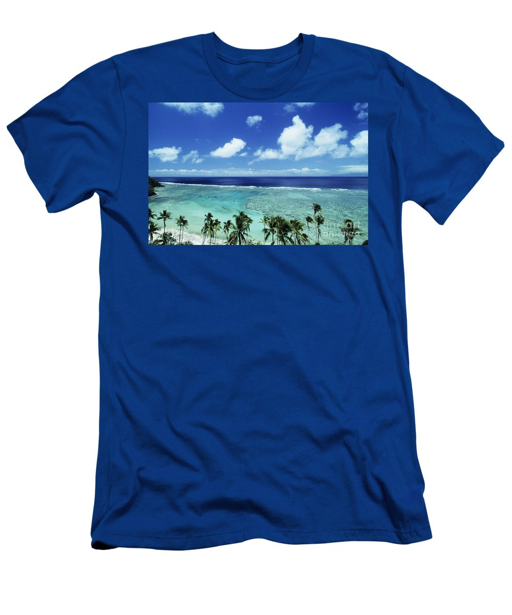 Beach Men's T-Shirt (Athletic Fit) featuring the photograph Fiji, Wakaya Island by Larry Dale Gordon - Printscapes