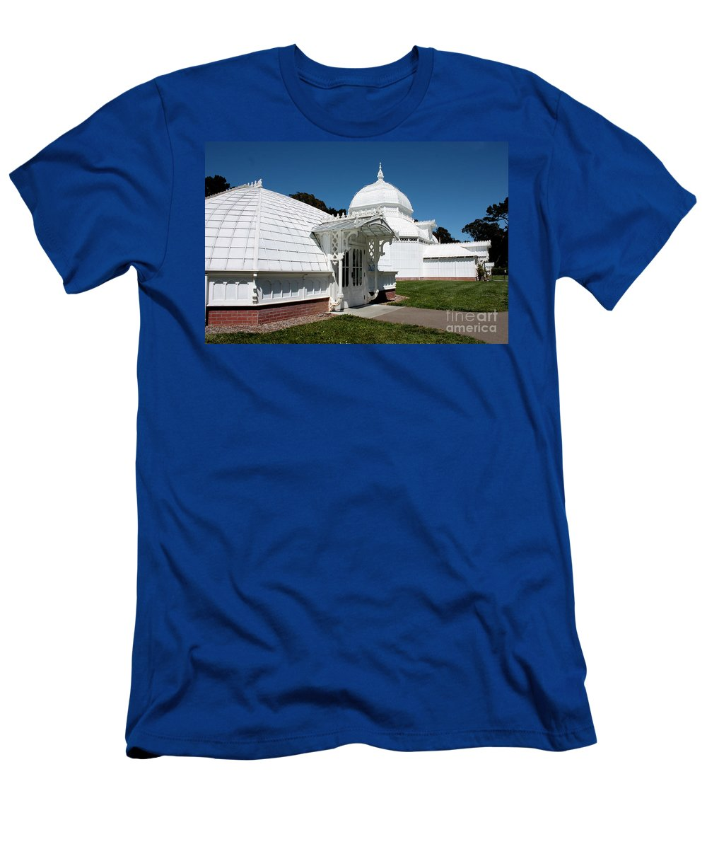 Victorian Men's T-Shirt (Athletic Fit) featuring the photograph Golden Gate Conservatory by Carol Groenen