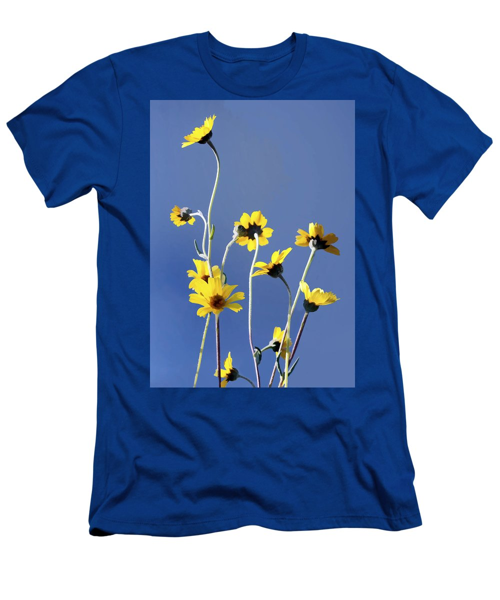 Daisy Men's T-Shirt (Athletic Fit) featuring the digital art Happy Daisies by Sharon Foster
