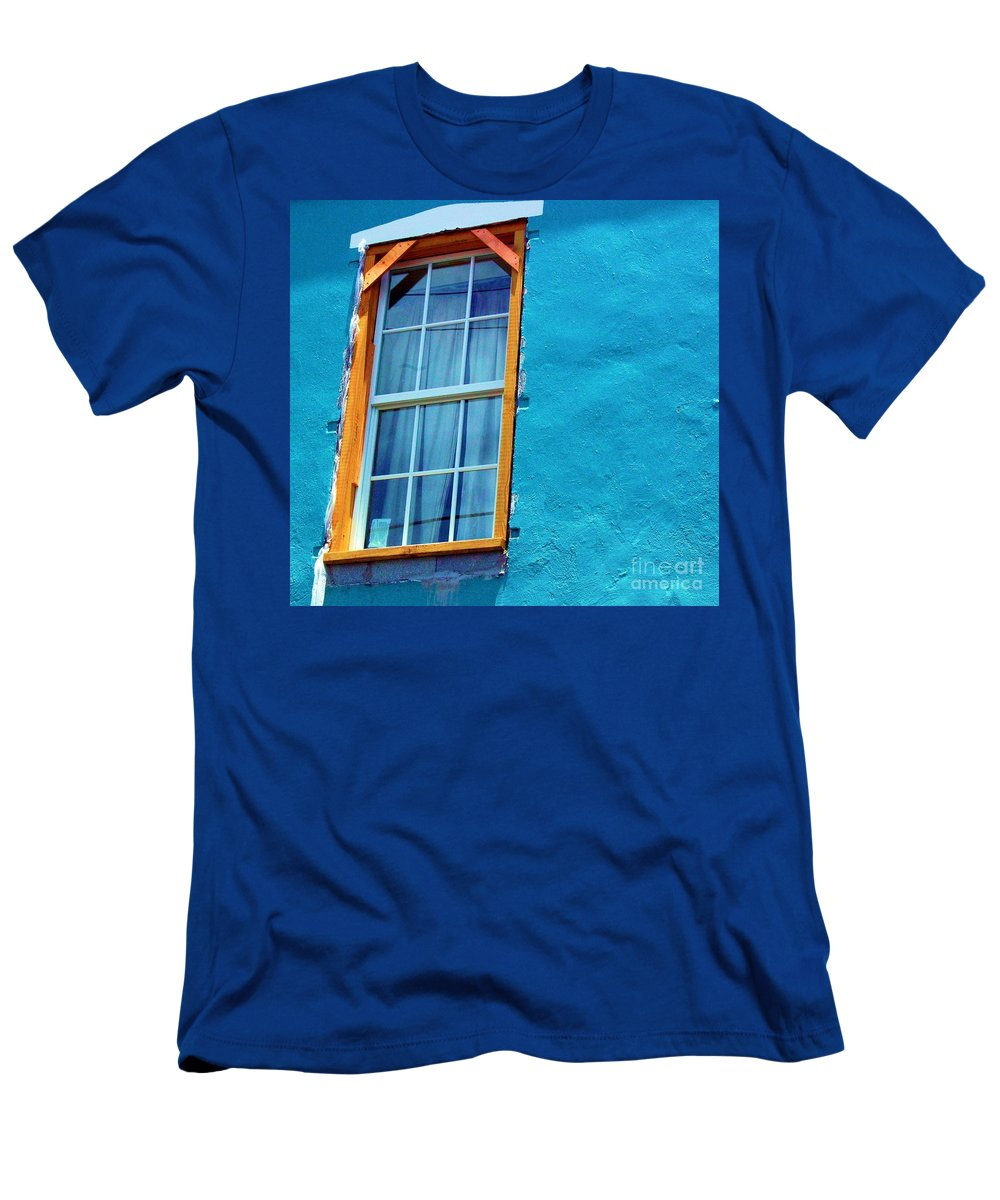 Window Men's T-Shirt (Athletic Fit) featuring the photograph I Got The Blues by Debbi Granruth