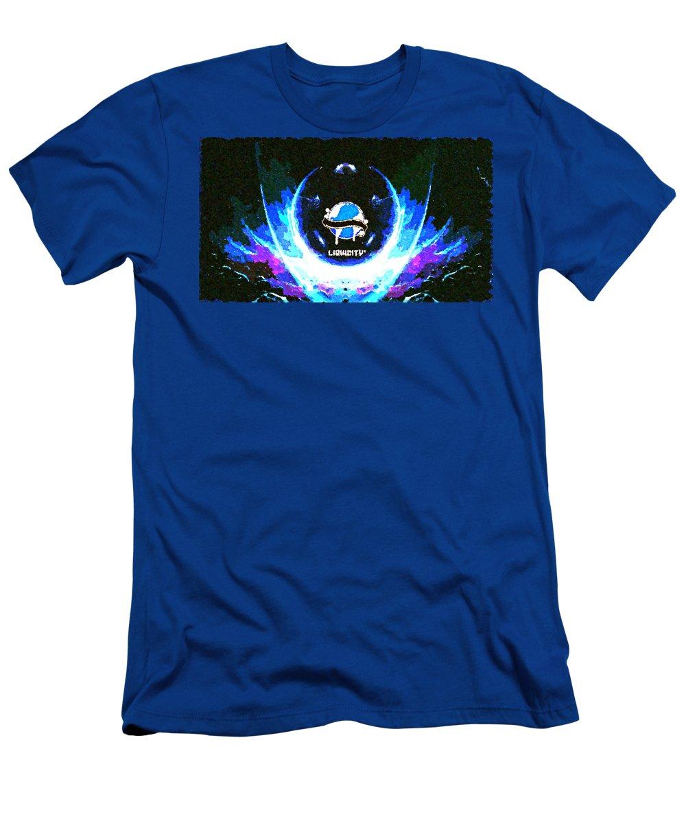 Liquicity Men's T-Shirt (Athletic Fit) featuring the digital art Liquicity by Lora Battle