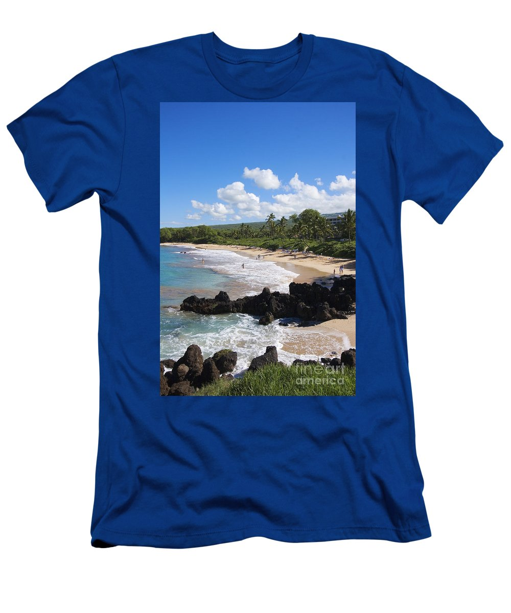 Beach Men's T-Shirt (Athletic Fit) featuring the photograph Makena, Maluaka Beach by Ron Dahlquist - Printscapes