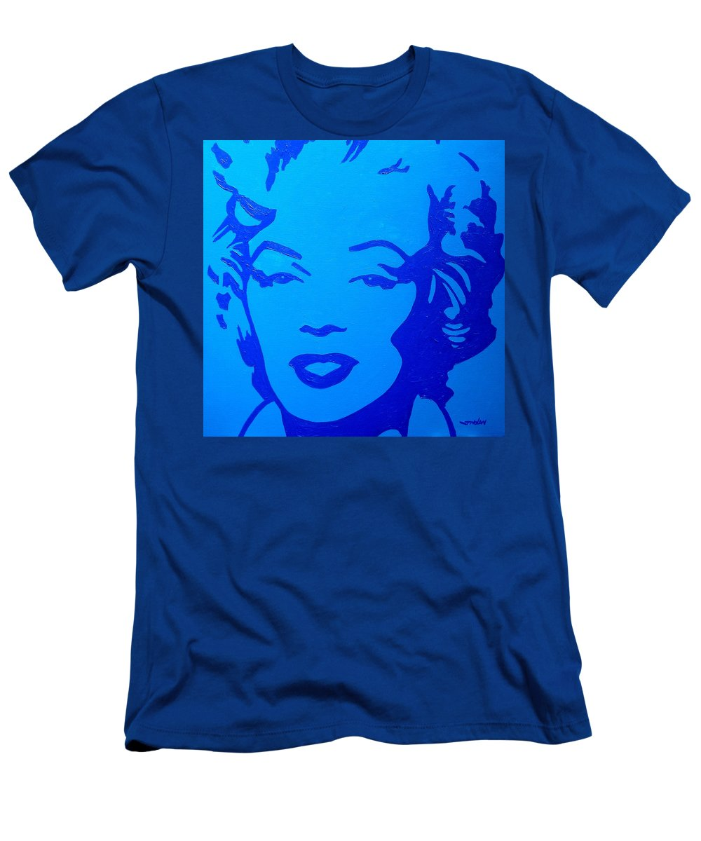 Acrylic Men's T-Shirt (Athletic Fit) featuring the painting Marilyn by John Nolan