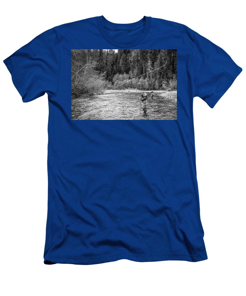 Flyfishing T-Shirt featuring the photograph On the River by Jason Brooks