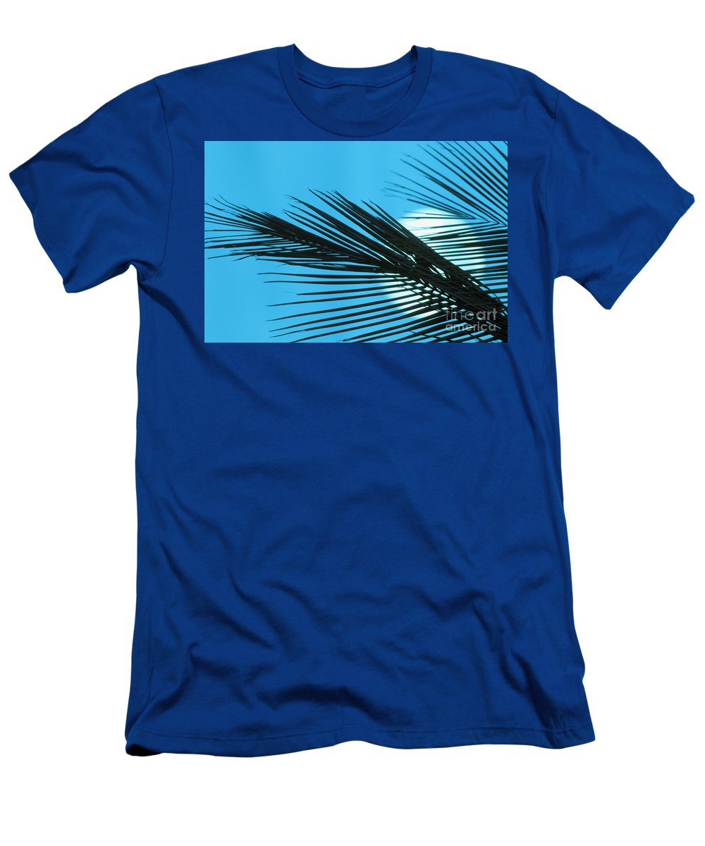 Beautiful Men's T-Shirt (Athletic Fit) featuring the photograph Palm Frond Silhouette by Ron Dahlquist - Printscapes