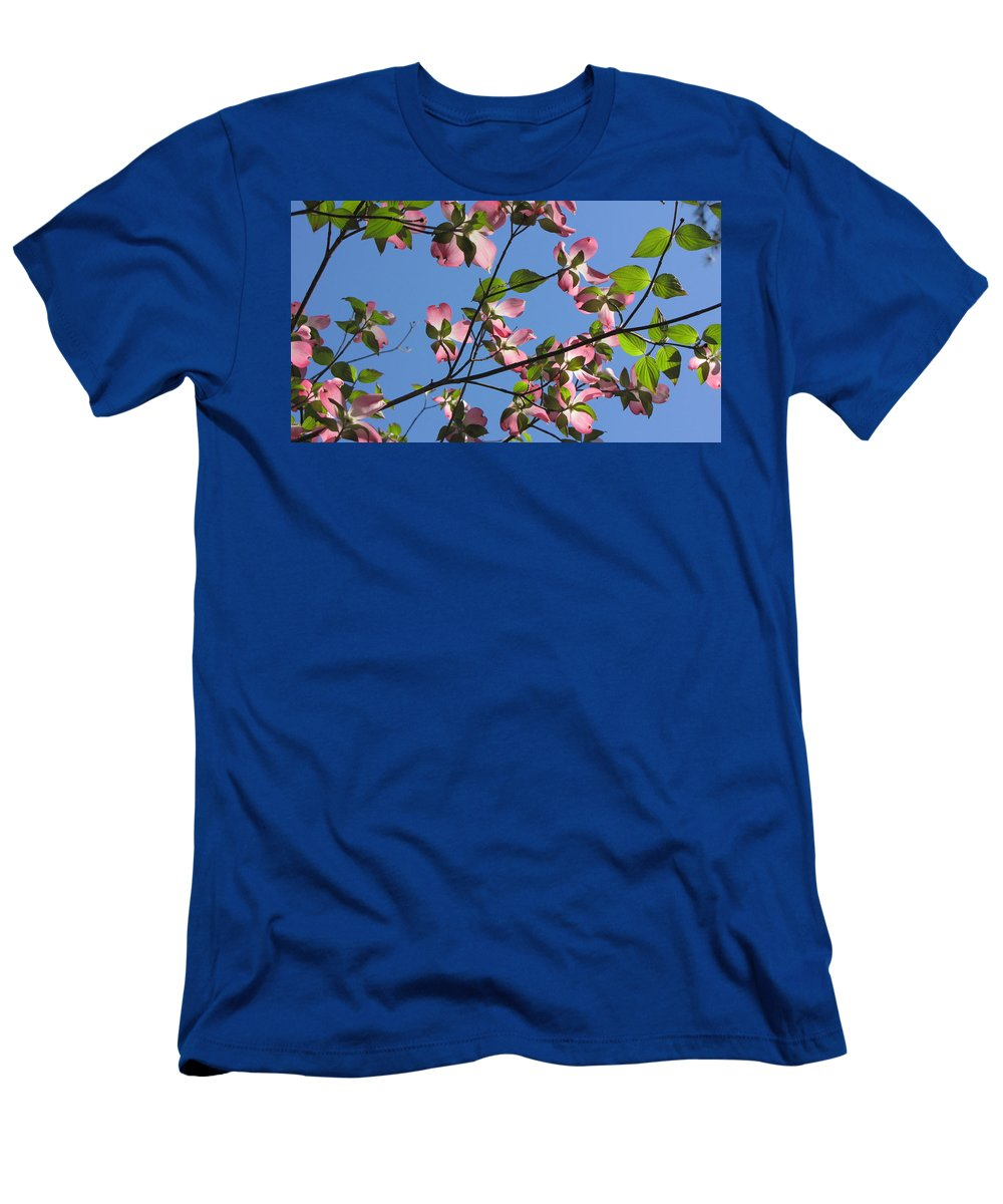 Tree Men's T-Shirt (Athletic Fit) featuring the photograph Pink Dogwood by Sarah Houser