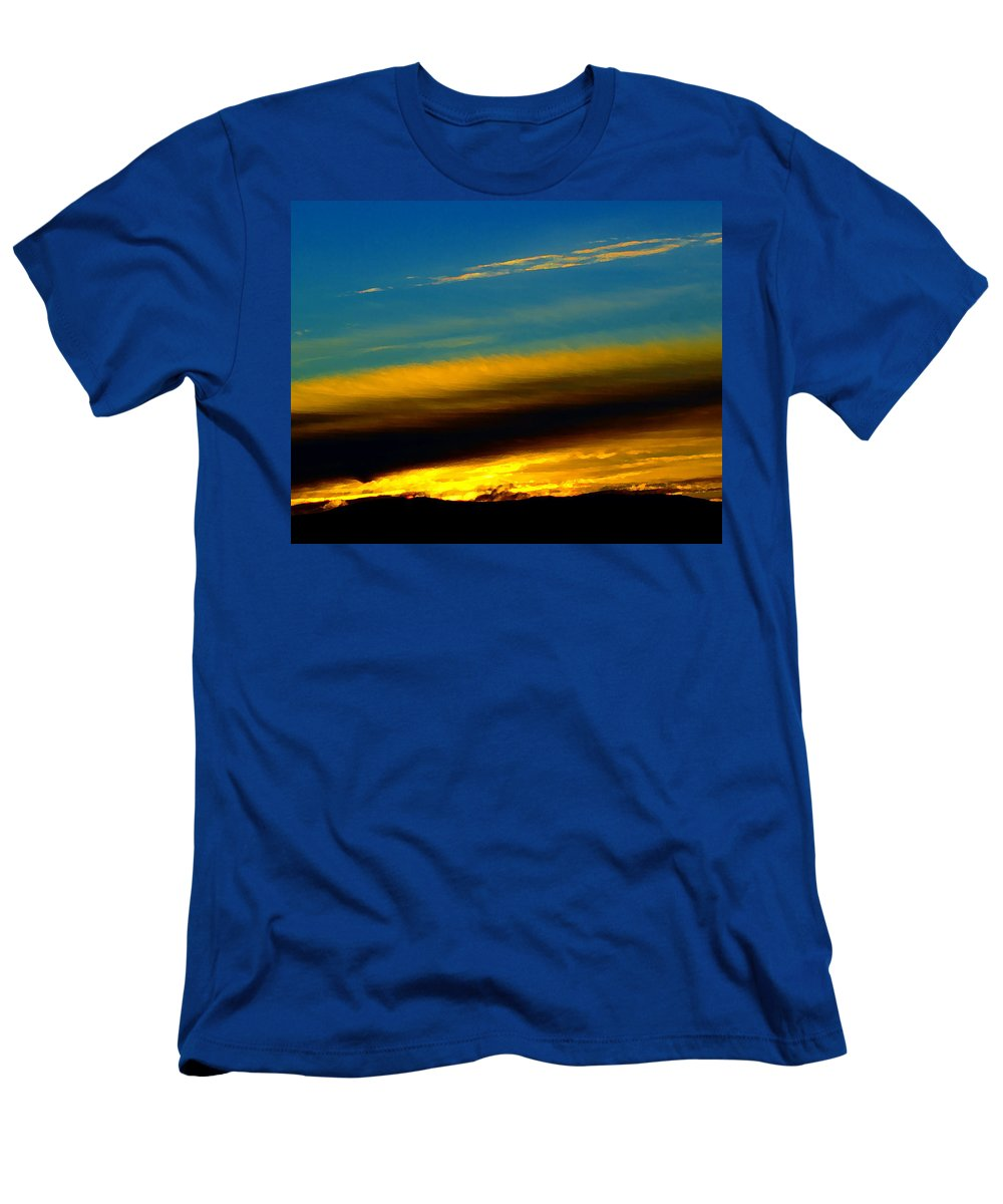 Sunrise Men's T-Shirt (Athletic Fit) featuring the photograph Spokane Sunrise by Ben Upham III