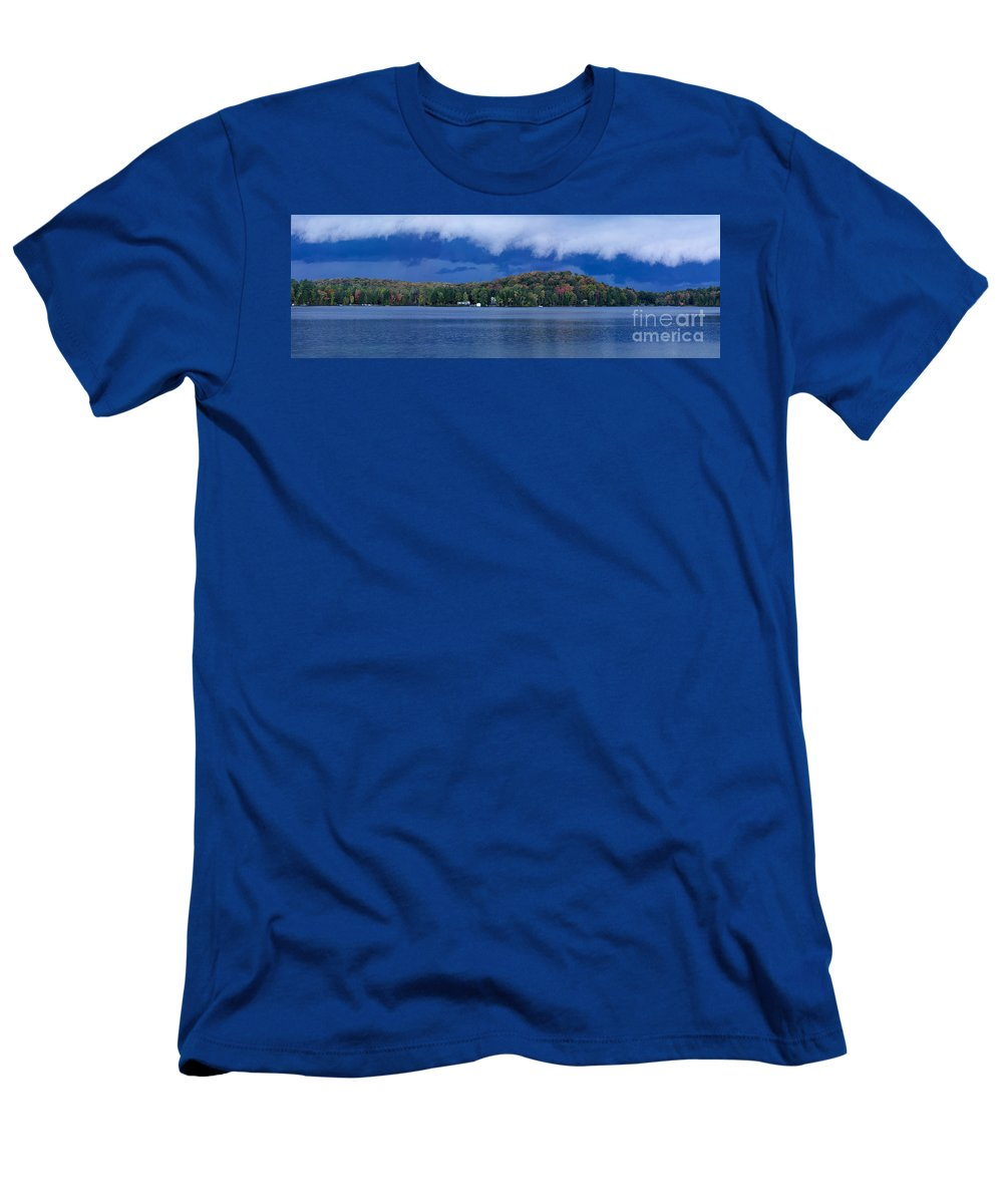 Lake Men's T-Shirt (Athletic Fit) featuring the photograph Storm Clouds Over The Lake Of Bays by Oleksiy Maksymenko