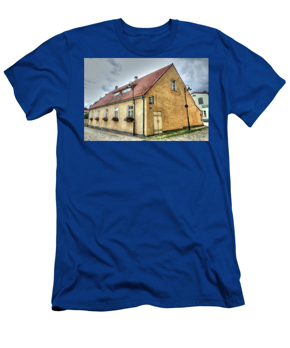 Cesu Latvia Men's T-Shirt (Athletic Fit) featuring the photograph Cesu Latvia by Paul James Bannerman