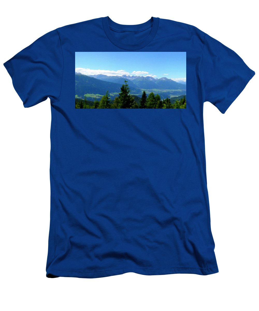 Fine Men's T-Shirt (Athletic Fit) featuring the digital art K Landscape by Malinda Spaulding