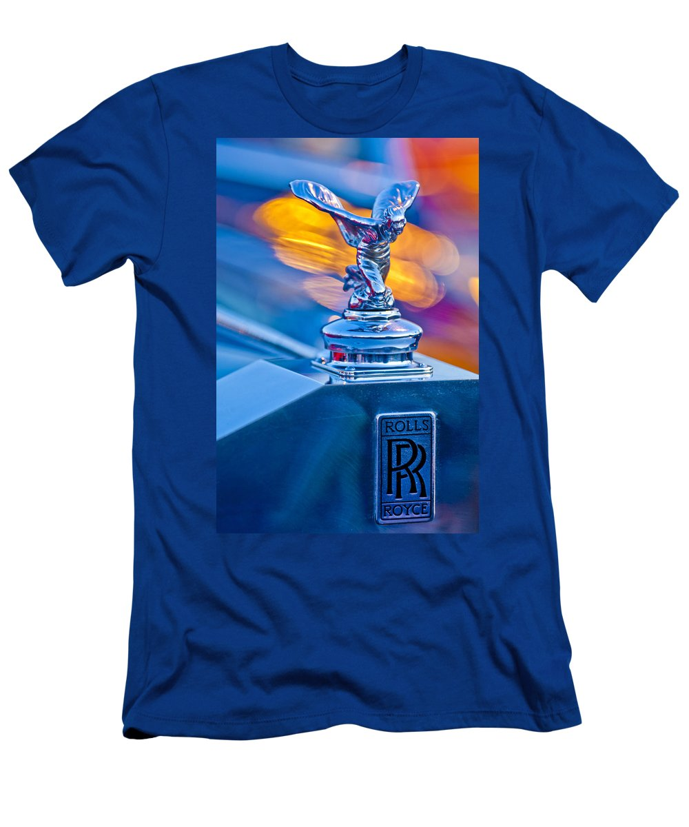1952-1953 Rolls-royce Silver Wraith Men's T-Shirt (Athletic Fit) featuring the photograph 1952 Rolls-royce Silver Wraith Hood Ornament by Jill Reger