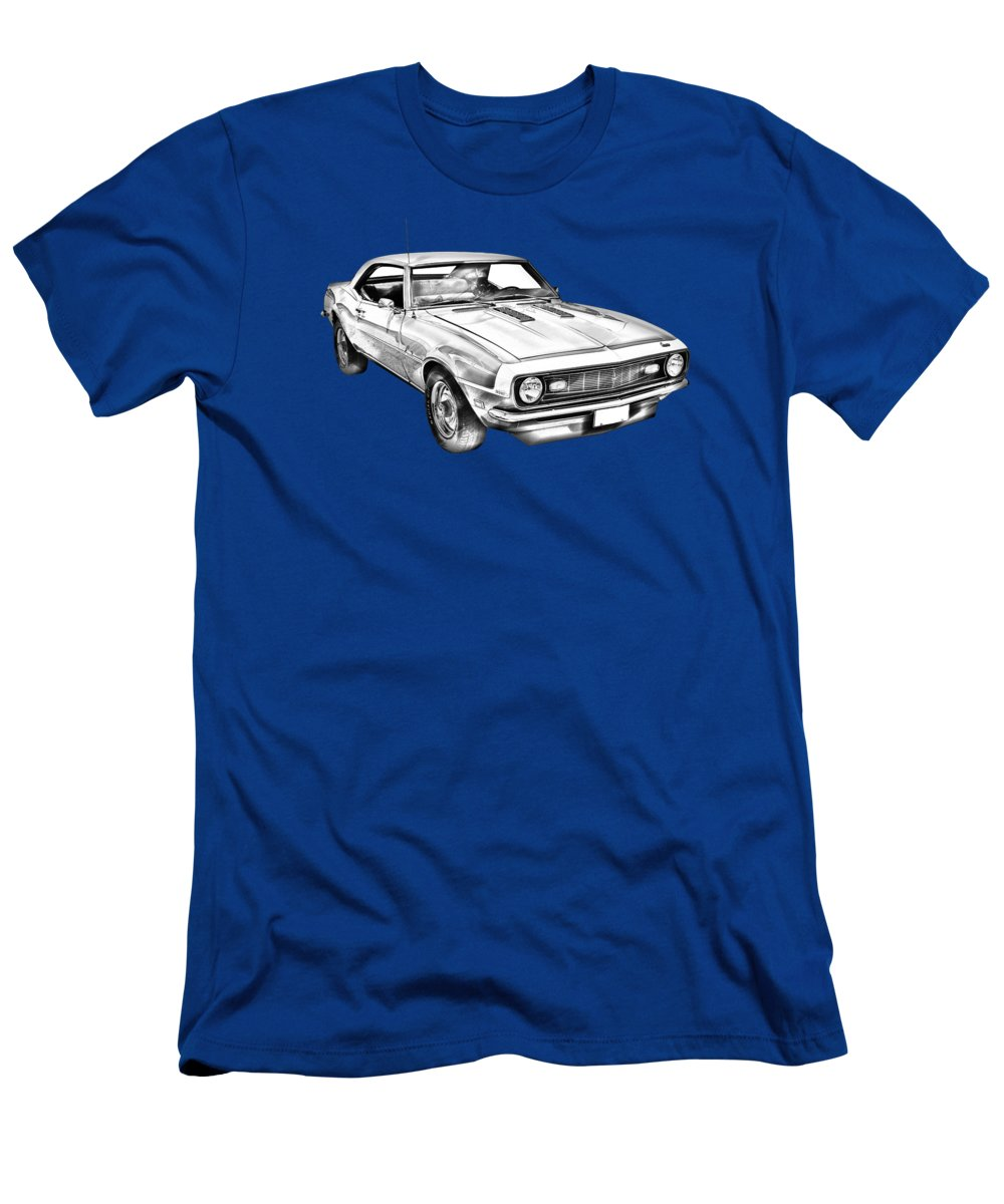 1fa7c8bc Automobile Men's T-Shirt (Athletic Fit) featuring the photograph 1968 Chevrolet  Camaro 327
