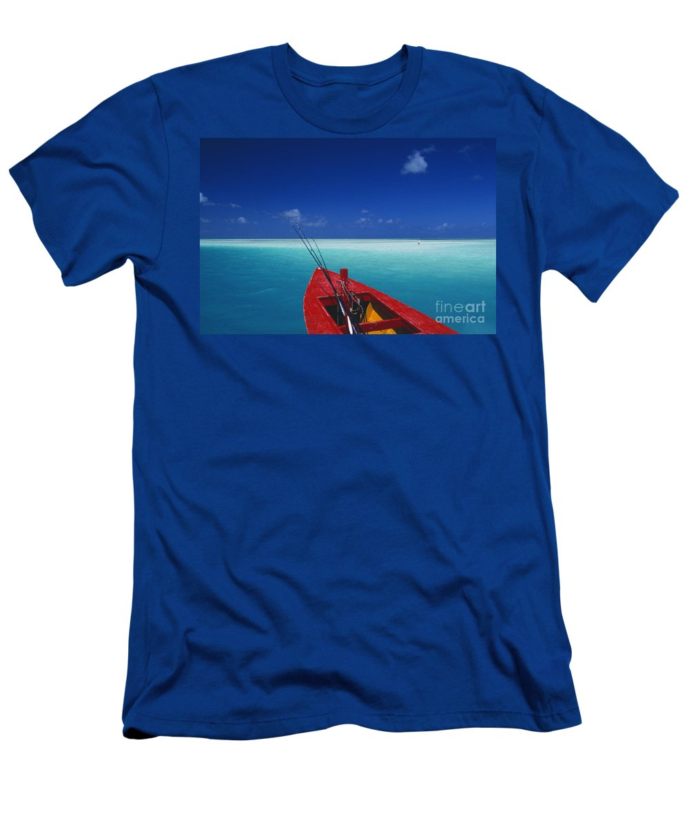 Beach Men's T-Shirt (Athletic Fit) featuring the photograph Christmas Island, Bone Fi by Ron Dahlquist - Printscapes