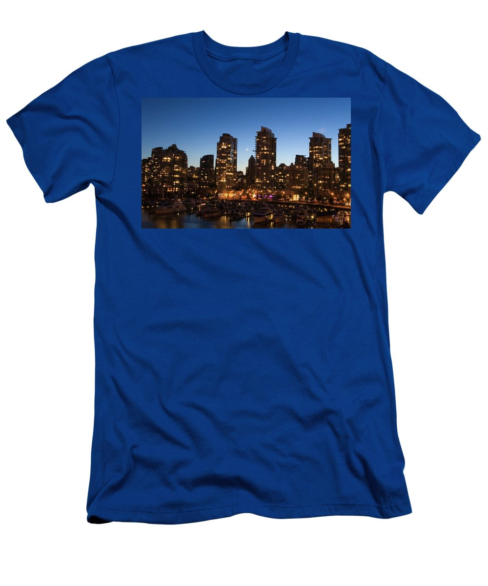 City Men's T-Shirt (Athletic Fit) featuring the digital art City by Dorothy Binder