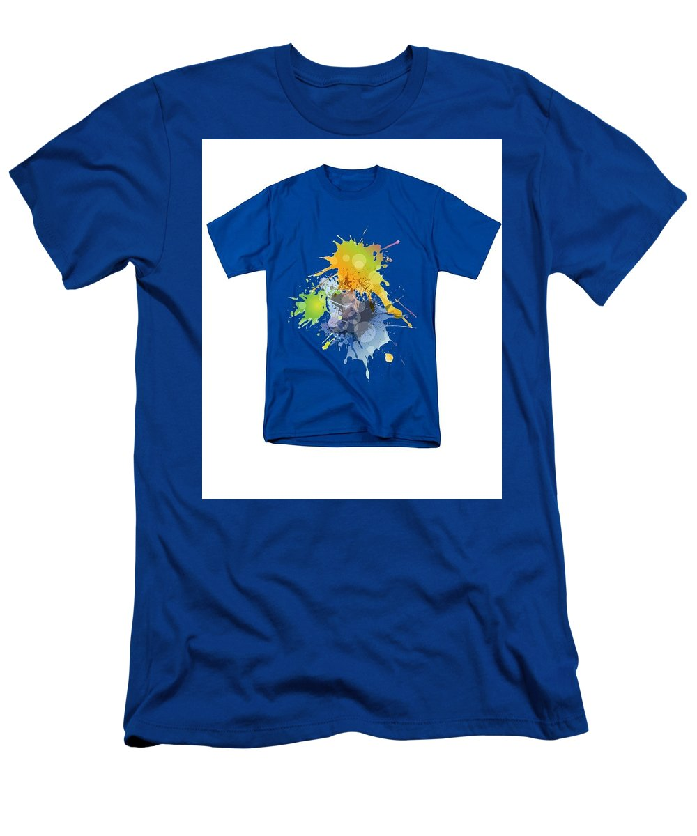 Men's T-Shirt (Athletic Fit) featuring the painting Paint Ball Tshirt by Herb Strobino