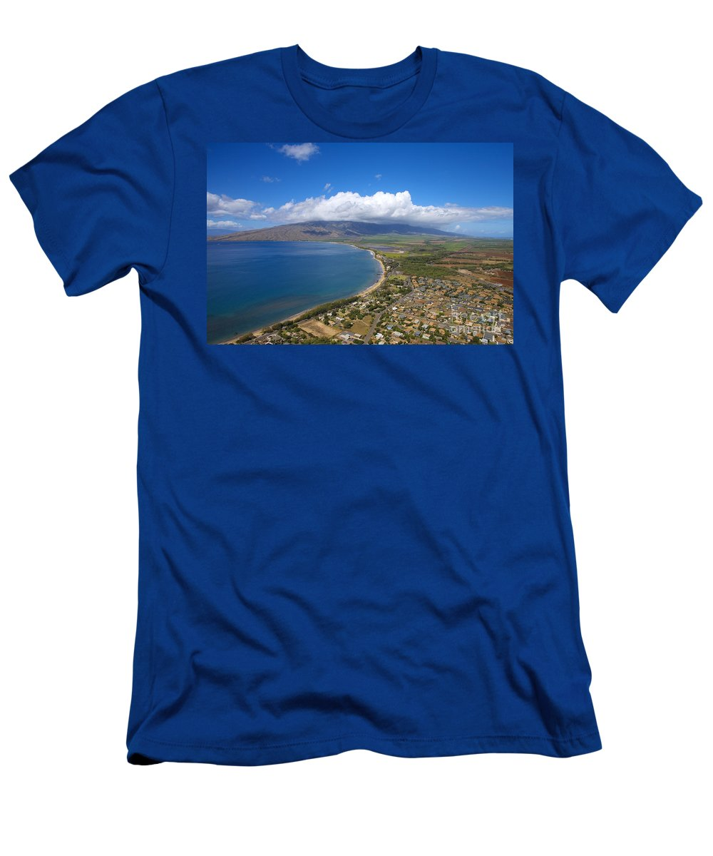 Above Men's T-Shirt (Athletic Fit) featuring the photograph Maui Aerial by Ron Dahlquist - Printscapes