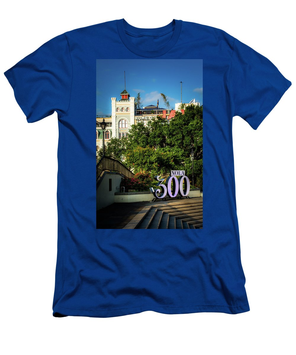300 Years Men's T-Shirt (Athletic Fit) featuring the photograph 300 Years Of New Orleans by Greg Mimbs