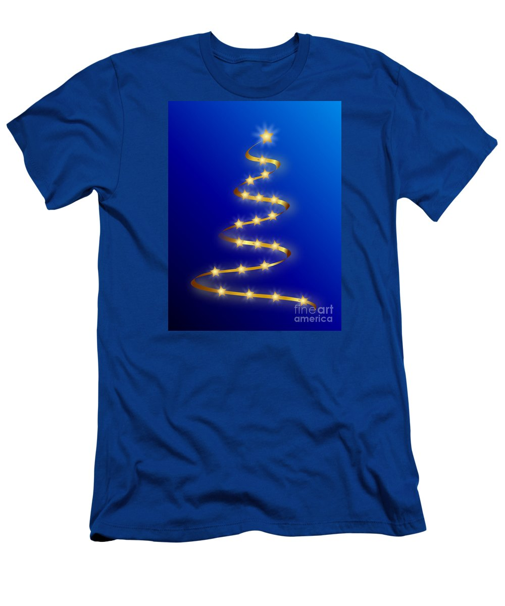 Witchcraft Men's T-Shirt (Athletic Fit) featuring the digital art Christmas by Frederick Holiday