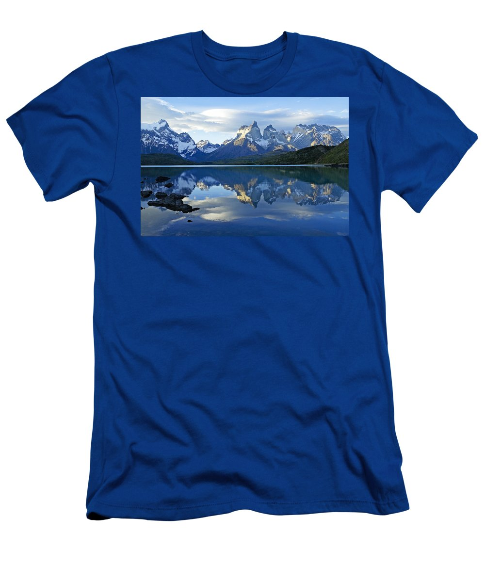 Patagonia T-Shirt featuring the photograph Patagonia Reflection by Michele Burgess