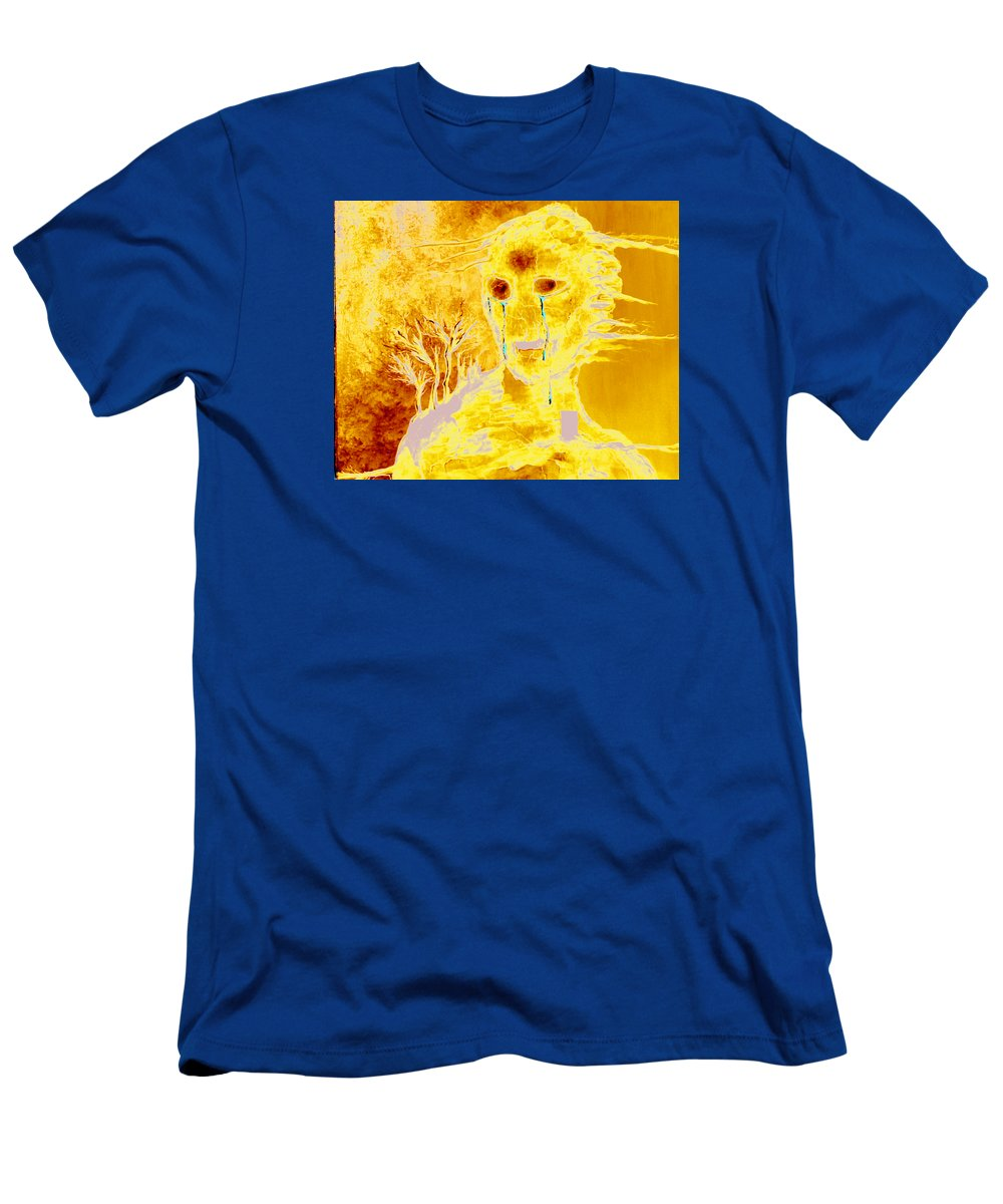 Blue Men's T-Shirt (Athletic Fit) featuring the painting Untitled by Veronica Jackson