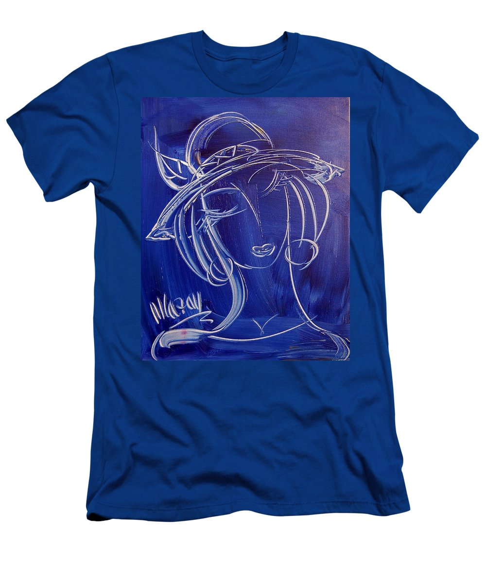 Men's T-Shirt (Athletic Fit) featuring the painting Girl by Mark Kazav