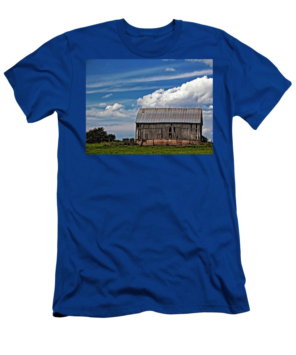 Barn Men's T-Shirt (Athletic Fit) featuring the photograph A Barn by Steve Harrington