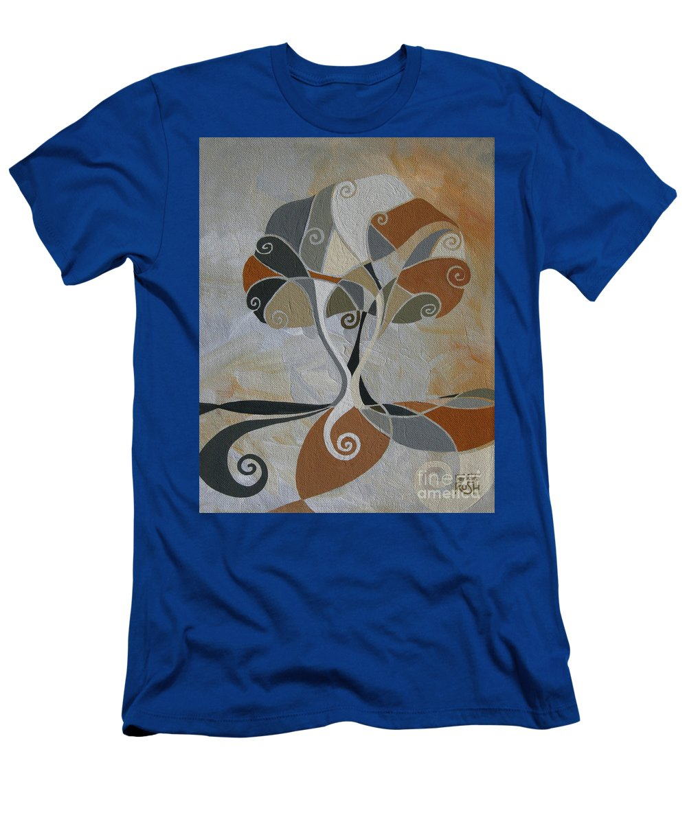 Tree Art Men's T-Shirt (Athletic Fit) featuring the painting A Cold Winter's Day by Barbara Rush