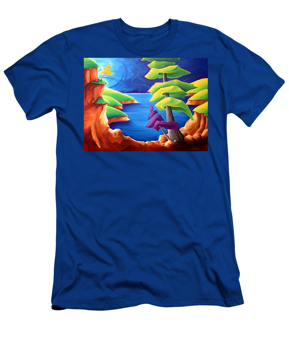Landscape Men's T-Shirt (Athletic Fit) featuring the painting A Moment In Time by Richard Hoedl