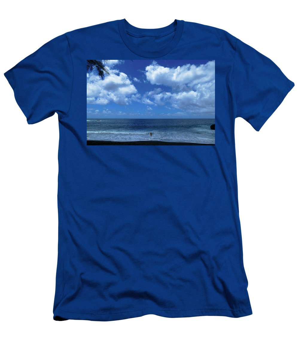 Surf Men's T-Shirt (Athletic Fit) featuring the photograph A More Inadequate Title There Could Not Be #1 by Francis Jakubiec