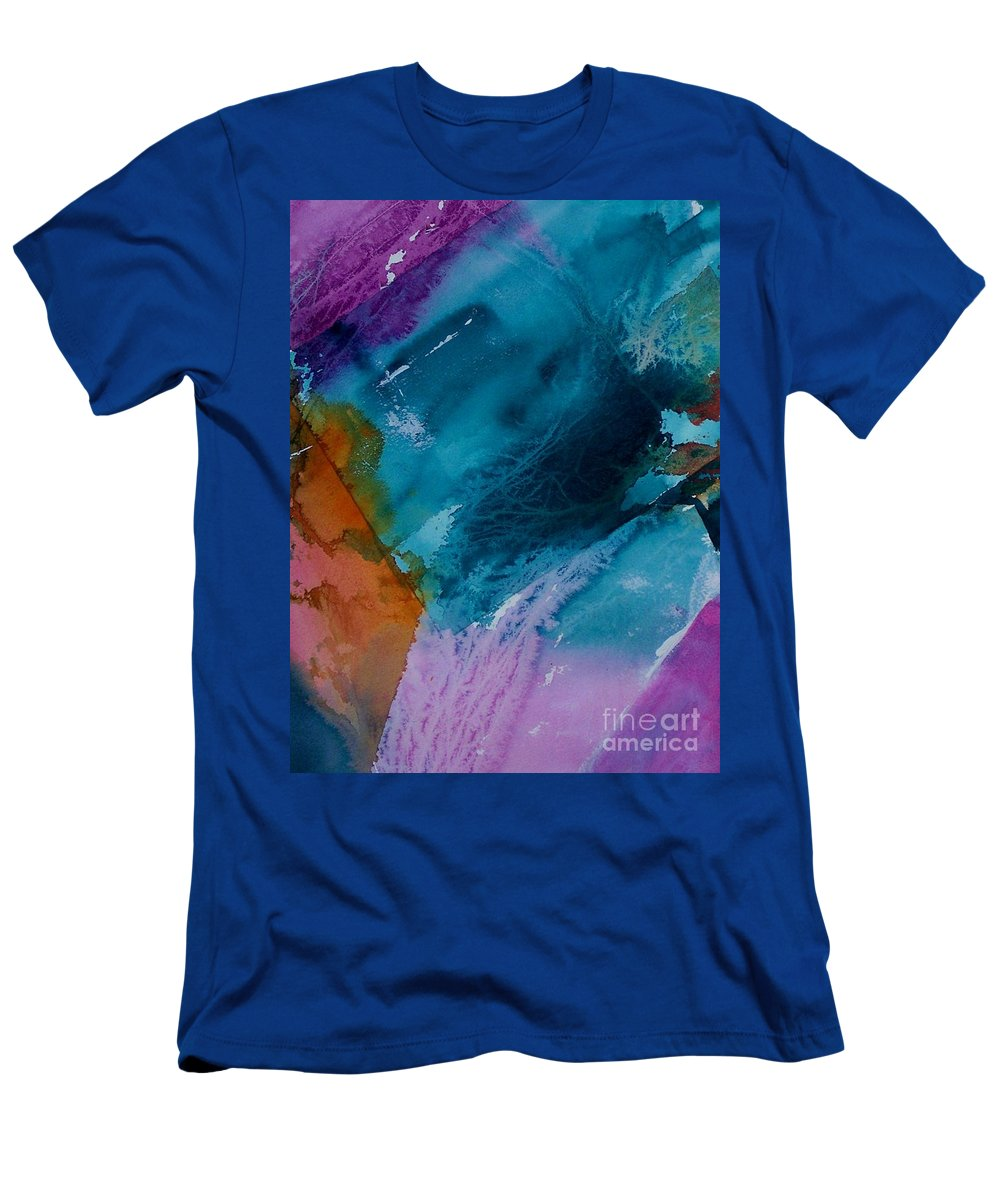 Abstract Men's T-Shirt (Athletic Fit) featuring the painting Abstract 034 by Donna Frost
