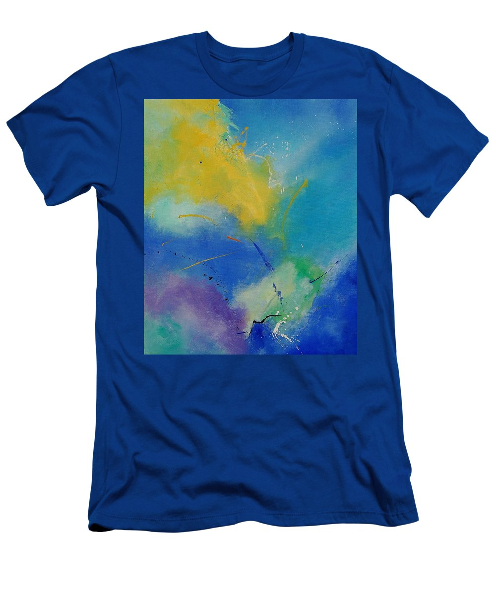 Abstract Men's T-Shirt (Athletic Fit) featuring the painting Abstract 564897 by Pol Ledent