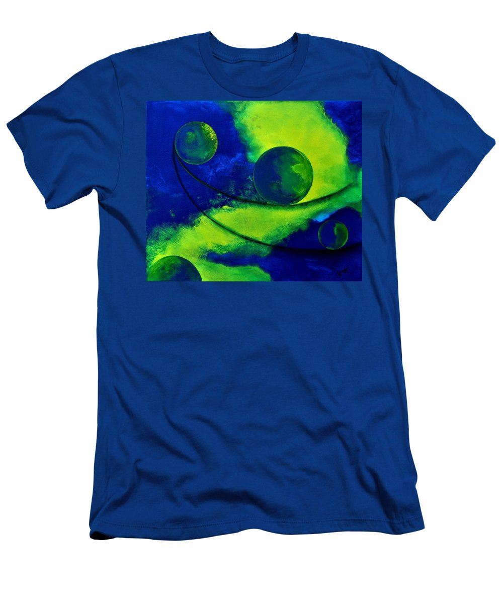 Abstract Men's T-Shirt (Athletic Fit) featuring the painting Abstract 6 by Veronique Radelet