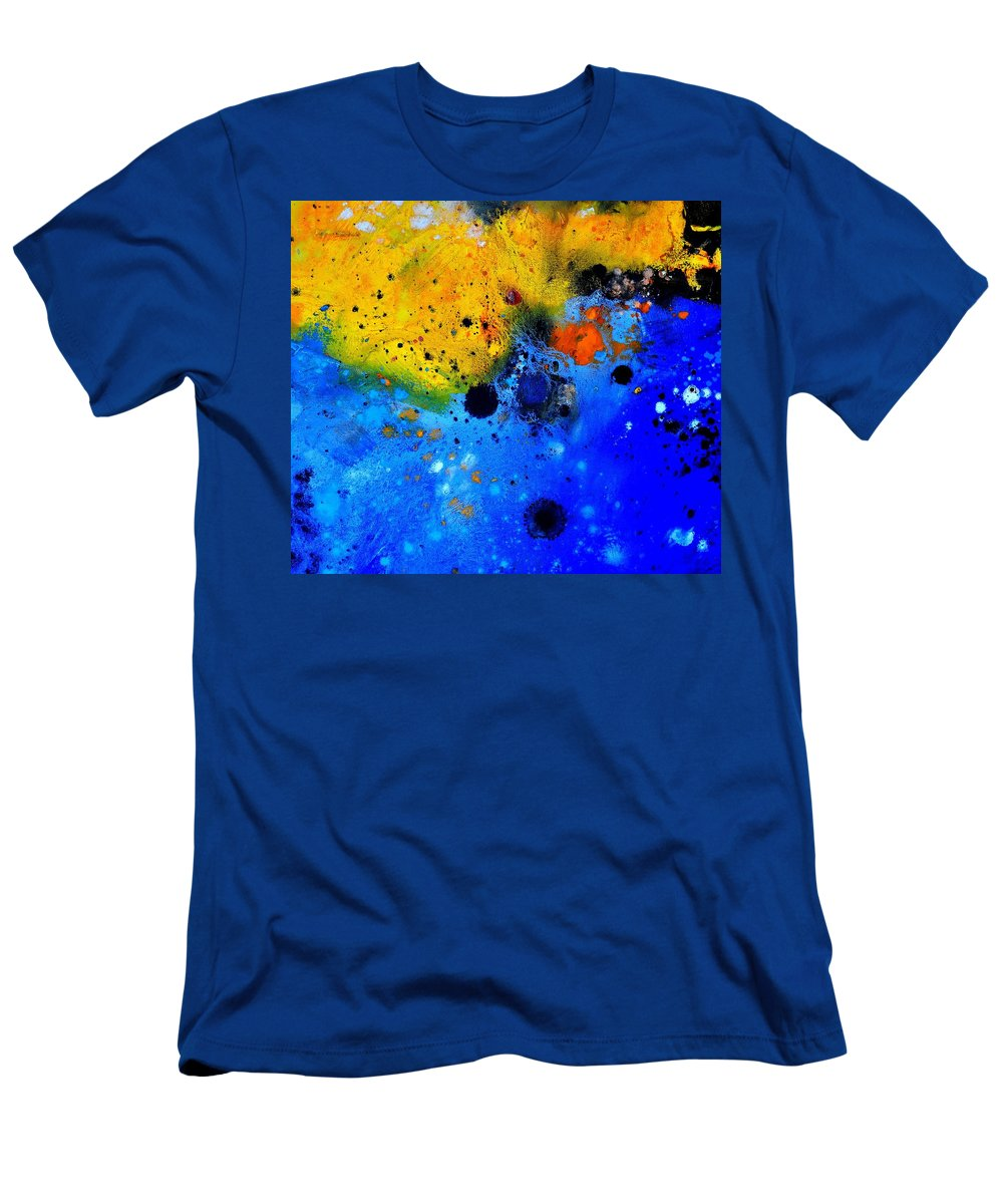 Abstract T-Shirt featuring the painting Abstract 767b by Pol Ledent