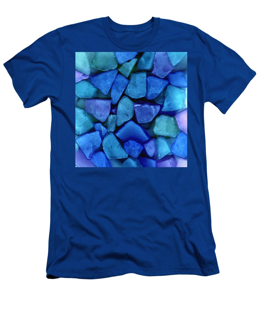 Glass Men's T-Shirt (Athletic Fit) featuring the photograph Abstract In Glass by Wayne Potrafka