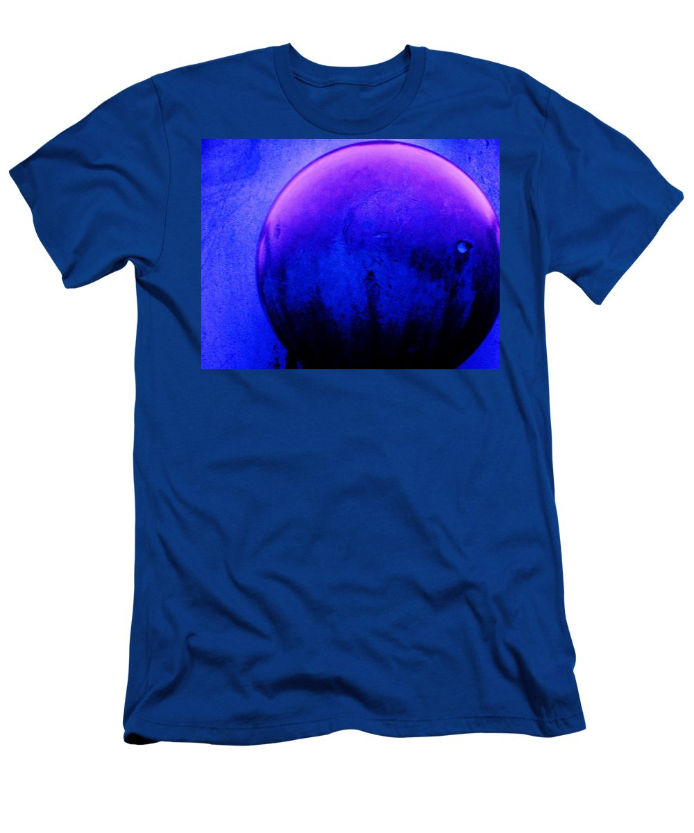 Abstract Men's T-Shirt (Athletic Fit) featuring the painting Abstract Metal Ball by Eric Schiabor