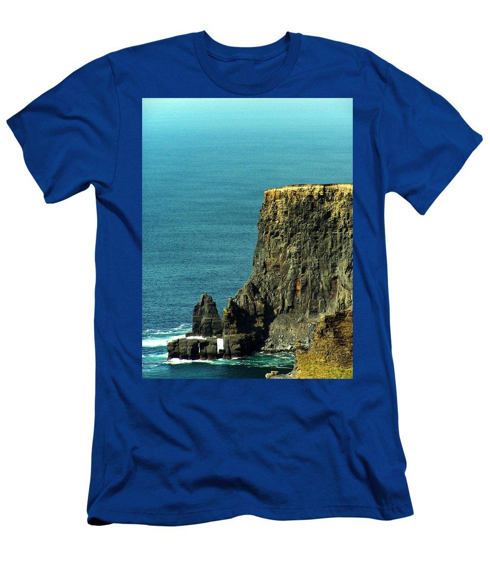 Irish T-Shirt featuring the photograph Aill Na Searrach Cliffs of Moher Ireland by Teresa Mucha