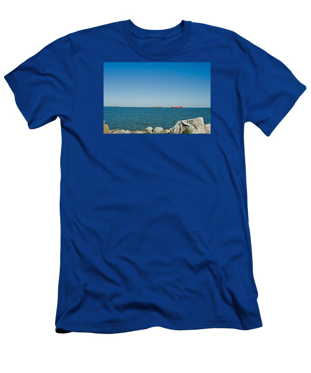 Ships Men's T-Shirt (Athletic Fit) featuring the photograph All Ships At Sea by Robert Brown
