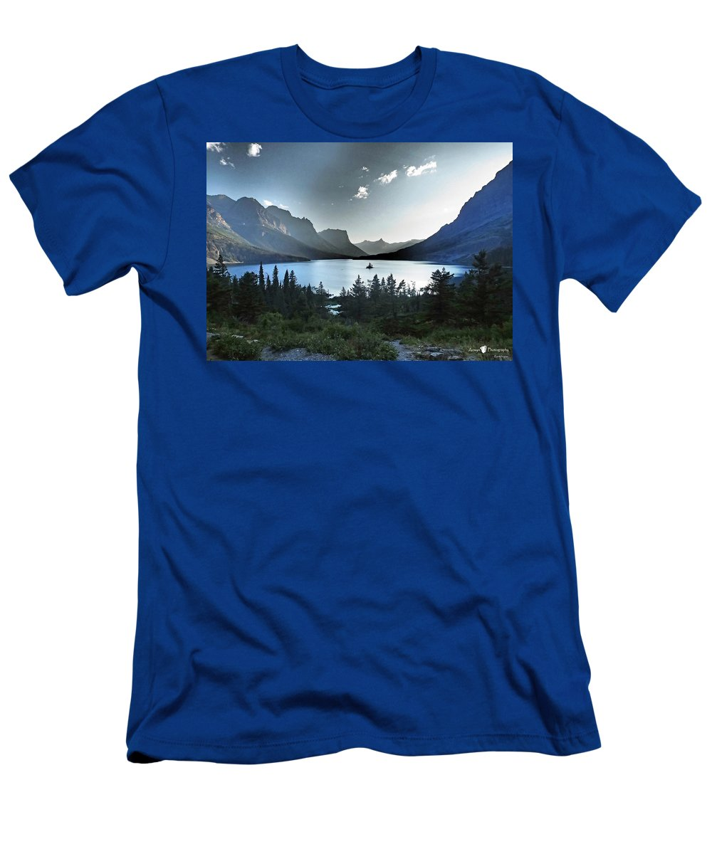 St. Mary Lake T-Shirt featuring the photograph Alpine Dusk by Stephanie McGuire