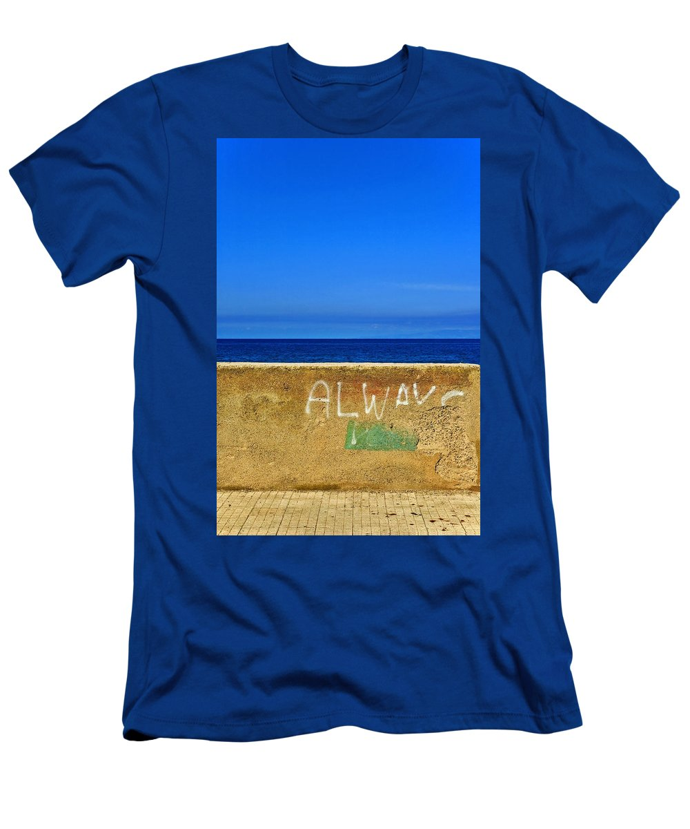 Graffiti Men's T-Shirt (Athletic Fit) featuring the photograph Always by Silvia Ganora