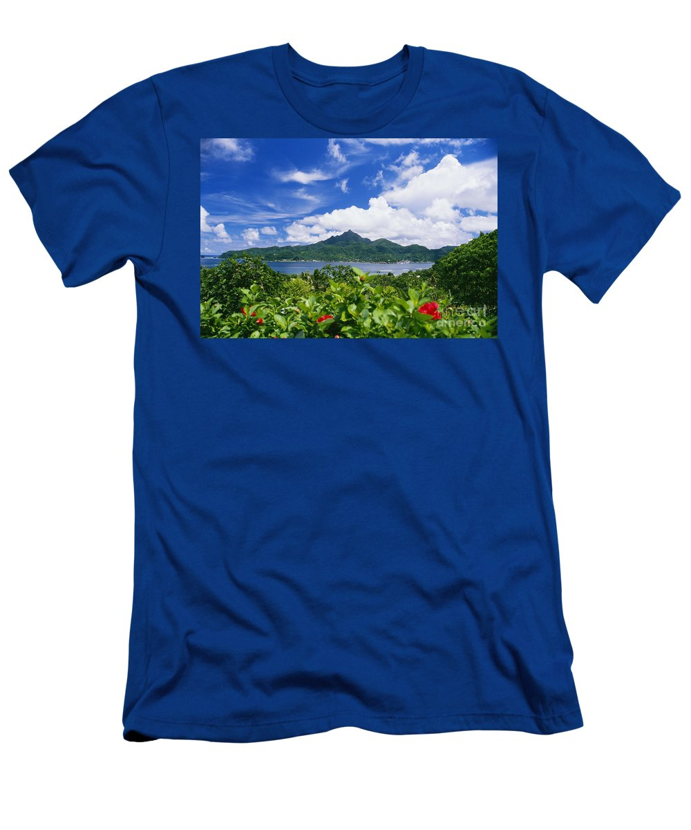 Across Men's T-Shirt (Athletic Fit) featuring the photograph American Samoa by Joe Carini - Printscapes