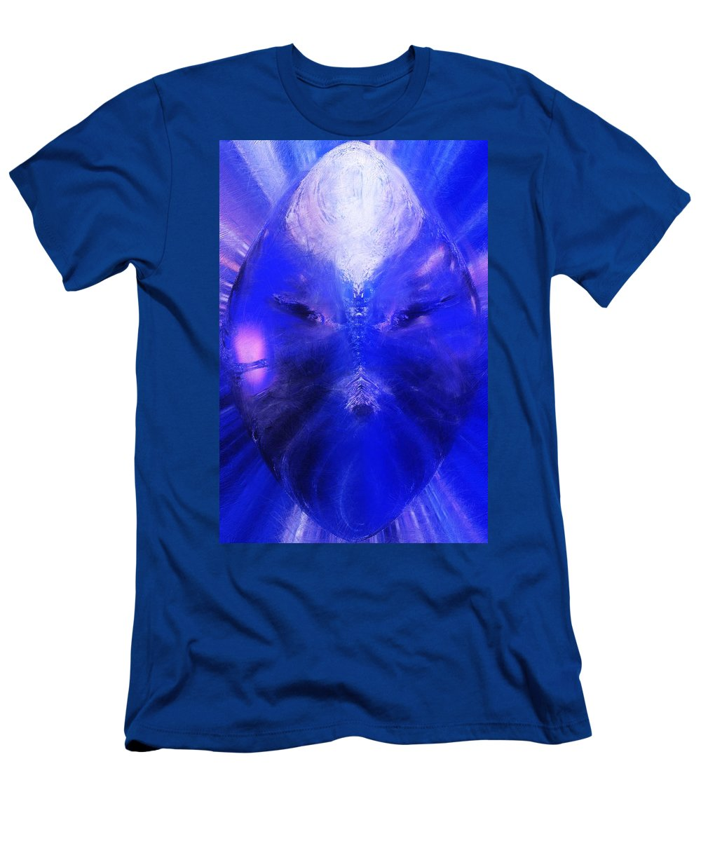 Digital Painting Men's T-Shirt (Athletic Fit) featuring the digital art An Alien Visage by David Lane