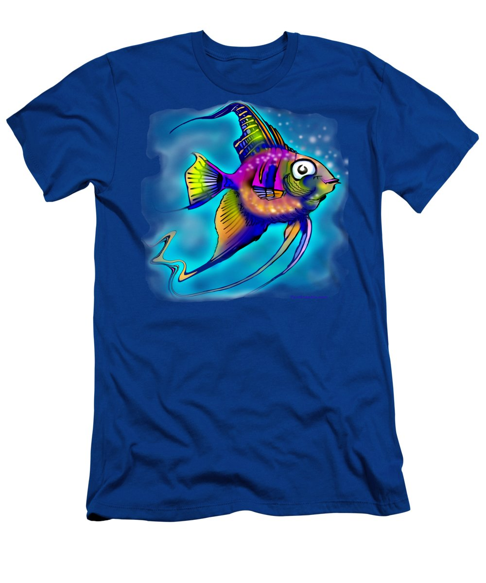 Angelfish Men's T-Shirt (Athletic Fit) featuring the painting Angelfish by Kevin Middleton